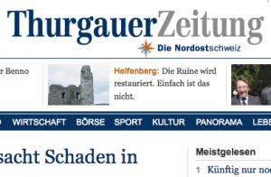 Thurgauer Zeitung geht von Tamedia nun ans St. Galler Tagblatt der NZZ-Gruppe
