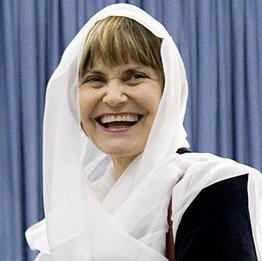 Frauenrechtlerin Calmy-Rey mit Kopftuch