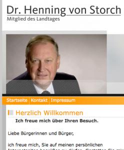 Henning von Storch: Ob er sich gegen die links politisierende Multikulti-Verfechterin Angela Merkel noch lange in der CDU halten kann? (Foto: Webseite H. v. Storch)