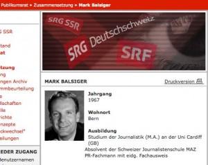 Gegen jeden Anstand und absolut daneben: Die völlig pietätslosen öffentlichen Verbal-Entgleisungen von SRG-Publikumsrat-Mitglied Mark Balsiger (Foto: SRG)