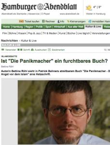 Journalistin Bettina Röhl befaßt sich mit den Gutmenschen-Thesen von FAZ-Feuilleton-Chef Patrick Bahner (Bildschirmfotoausriß: Hamburger Abendblatt)