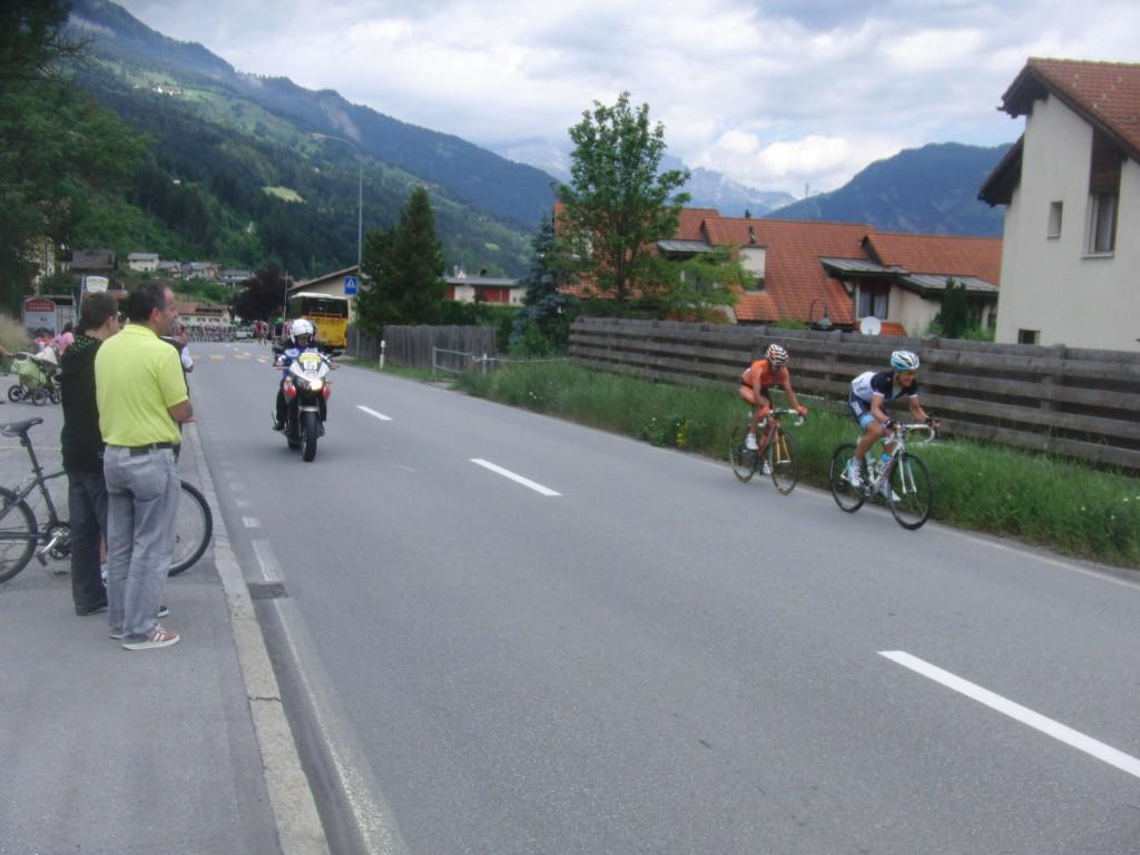 Die ersten beiden Fahrer an der Spitze der Tour des Suisse