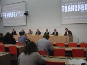 Im Medienzentrum des Bundeshauses wird die Transparenzinitiative der Öffentlichkeit vorgestellt. Erfreulicherweise wird sie von einem breiten politischen Spektrum getragen.