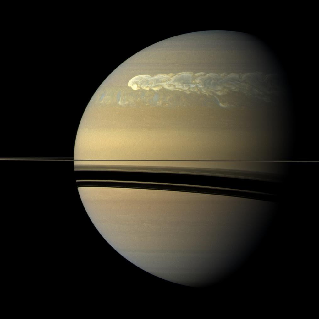 Sturm auf dem Satrum (© NASA/JPL/SSI)