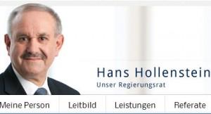 Kommunikationsgau: Obwohl er schon im Frühjahr abgewählt wurde, ist er laut seiner eigenen Webpräsenz immer noch Regierungsrat (Bildschirmfoto vom heutigen Tage)