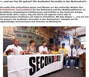 """Für alle, die noch nicht wußten, wer die Schweiz erbaut hat: Auf der Webseite des Vereins """"Secondo Plus"""" klärt Ylfete Fanaj auf: Es waren gar nicht die Schweizer!"""