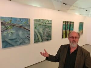 """Ausstellung transblau: """"trans"""" für hindurch/ quer durch, und """"blau"""" für das Wasser"""