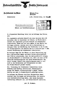 """Schrift und Sprache in Einheit anstatt in Vielfalt: Als Begründung wurde angeführt, daß angeblich Juden an der Entwicklung der Frakturschrift beteiligt waren. Hitler sprach von """"Judenlettern"""""""
