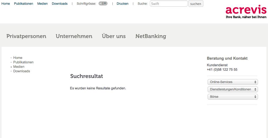 Swift Code Der Acrevis Bank In St Gallen Kurz Auf Webseite Finden