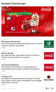 """Agentur KJU macht Werbung für sich auf einer Webseite, welche ausweislich der Wer-ist-Info (""""who is-Info"""") dem Coca-Cola-Konzern gehört"""