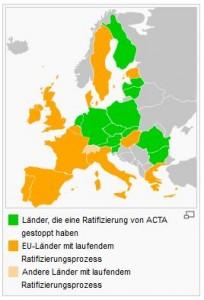 """Grün statt Rot und die Schweiz falsch als """"weiteres Land mit laufendem Ratifizirungsprozeß"""" aufgeführt."""