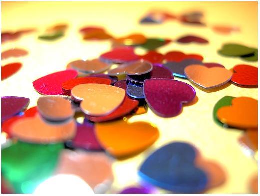 Herzkonfetti Liebe Herz Konfetti g