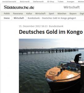 Kongo Bundesbank-Goldreserven