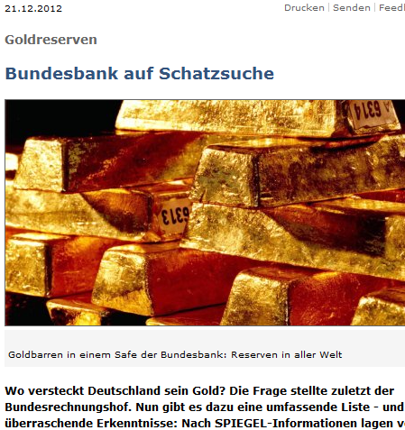 Spiegel Bundesbank-Goldreserven