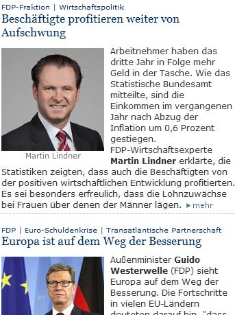 """FDP-Wirtschaftsexperte Martin Lindner: """"Deutschland profitiert bzw. Deutsche Arbeitnehmer profitieren vom Aufschwung"""""""