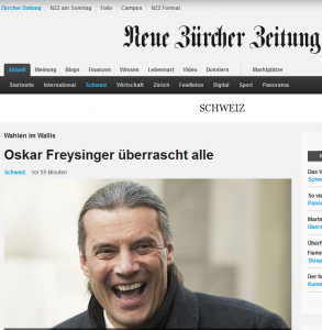Oskar Freysinger erhielt die meisten Stimmen bei den Wahlen im Wallis 2013