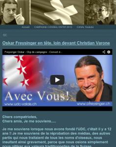 Oskar Freysinger: Wegen seinem Einsatz pro christlich-orientierte Werte von Links-Medien massiv angefeindet und verleumdet: Jetzt hat er die meisten Stimmen erhalten...Hm.