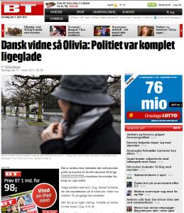 """Schwere Vorwürfe im Fall Olivia Ostergaard (Olivia Østergaard): Die Kapo Zug (""""Zuger Polizei"""") verbreite Falschinformationen und nimmt Hinweise nicht ernst, so dänische Journalisten. (Bildschirmfotoausriß)"""