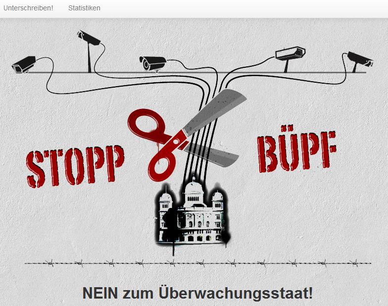 Nein zum Überwachungsstaat: Petition jetzt unterschreiben