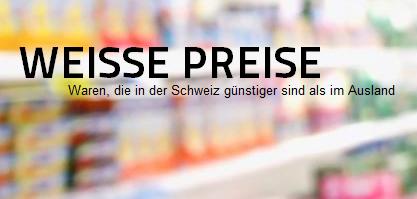Man kann Produkte melden, die günstiger sind (Bildschirmfotoausriß: WeißePreise.ch)