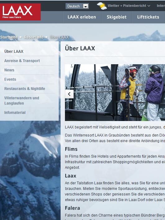"""Laax.ch - """"DAS"""" Schigebiet"""