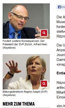 Regine Äppli jetzt SVP? (Bildschirmfotoausriß: Blick.ch)