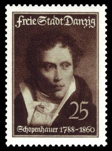 Briefmarke, 1938. Zum 150. Todestag von Arthur Schopenhauer