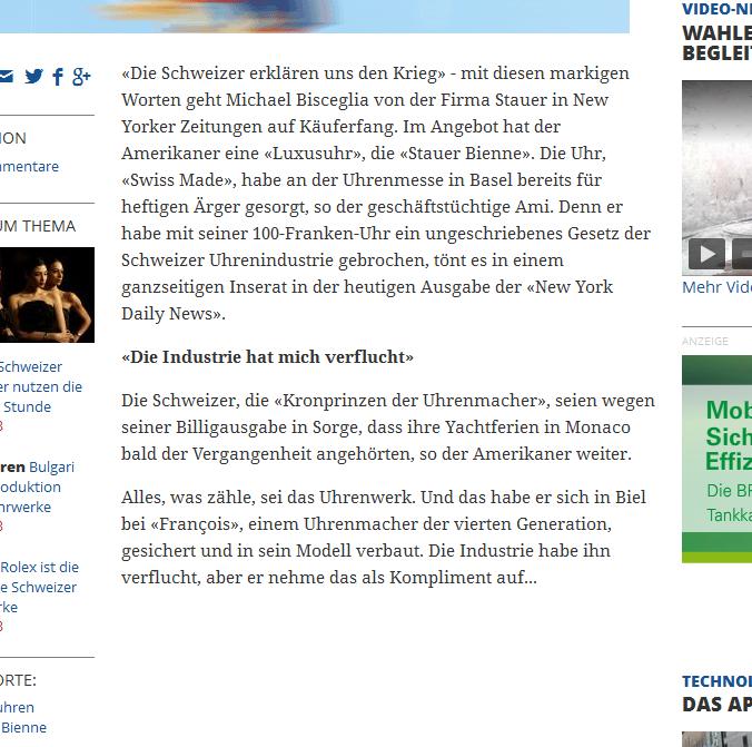 """Glanzvoll recherchierter """"Bericht"""" von Christian Bütikofer in der Handelszeitung..."""