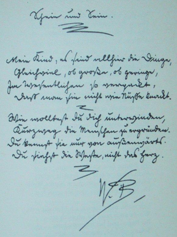 Text in deutscher Schrift von Wilhelm Busch (Schein und Sein)