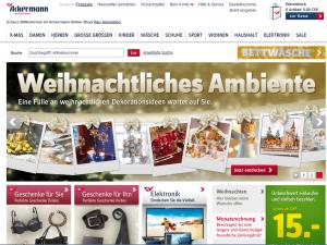 Im Internet weihnachtet es bereits kräftig (Bildschirmfotoausriß: Ackermann.ch)