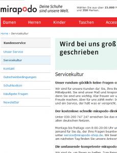 In Deutschland bestellen kann man nicht bei jedem Anbieter.  Bei Mirapodo etwa heißt es, es wird nicht in die Schweiz geliefert. Der Preisüberwacher weist aber darauf hin, daß es Anbieter von DE-Lieferadressen gibt oder auch Anbieter, die nachsenden (Bildschirmfotoausriß: Mirapodo.de)