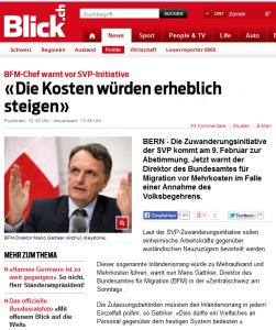 Grimms Märchen mit Mario Gattiker vom BfM. Behördenpropaganda bei der Zuwanderungsinitiative (Bildschirmfoto: Blick.ch)