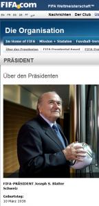 Sepp Blatter äußerte sich gegenüber der Schweiz am Sonntag zum EU-Beitritt der Schweiz und seiner Sinnlosigkeit (Bildschirmfotoausriß: FiFa)