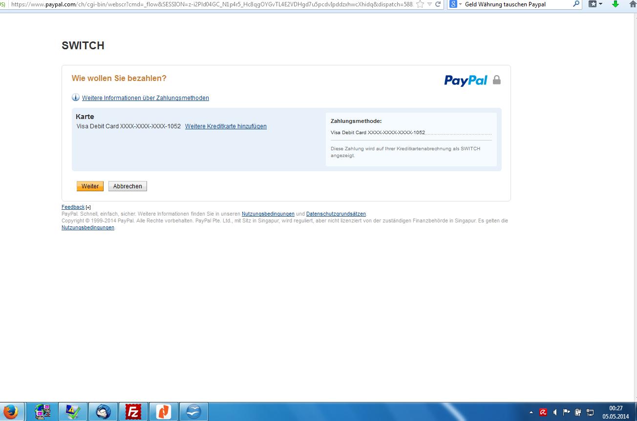 paypal kann nicht bezahlen