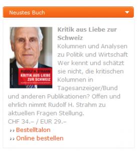 Kritik aus Liebe zur Schweiz: Rudolf Strahm hat ein Buch herausgegeben (Bildschirmfotoausriß: Webseite)