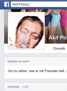 """Akif Pirincci zur """"Kulturförderung"""" und Staatskünstlern, die sich von der Politik mit Steuergeldern aushalten lassen (Bildschirmfotoausriß: Facebook)"""