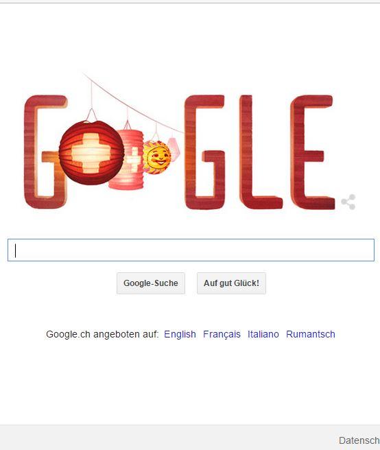 Google 1. August Schweiz