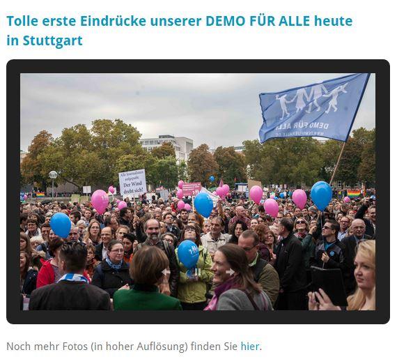 Bildschirmfotoausriß: Webseite Demo für alle