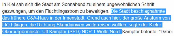 Bildschirmfotoausriß: Staatsfernsehen NDR (Norddeutscher Rundfunk)