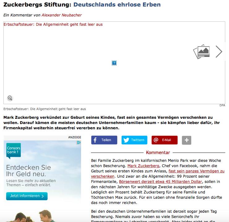 """Der besagte - in meinen Augen strunzdumme Artikel - von Alexander Neubacher. Solch ein """"Wirtschaftsjournalismus"""" ist ja nicht einmal mehr als peinlich zu bezeichnen"""