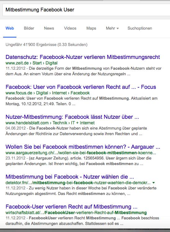 Wenig gutherzig und philantrophisch von Mark Zuckerberg, Alexander Neubauers Wohltäter-Liebling: Mitbestimmung auf Facebook