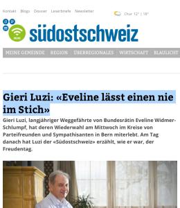 Luzi Gieri, Eveline Widmer-Schlumpf