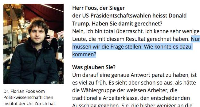"""Dr. Foos: """"Nun müssen wir die Frage stellen: Wie konnte es dazu kommen?"""" (Bildschirmfotoausriß: Blick.ch)"""