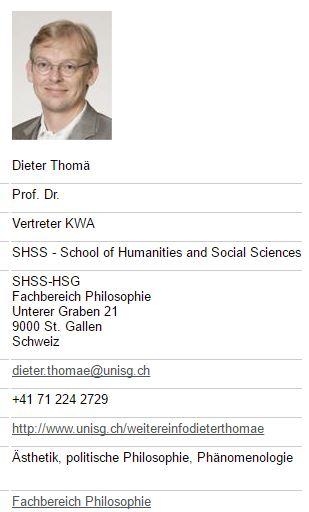 """Trump-Hasser und Thoreau-Verehrer bzw. Verklärer: Der linke Professor Dieter Thomä (Quelle des nicht gerade aktuellen """"Jugendfotos"""": UNI SG)"""