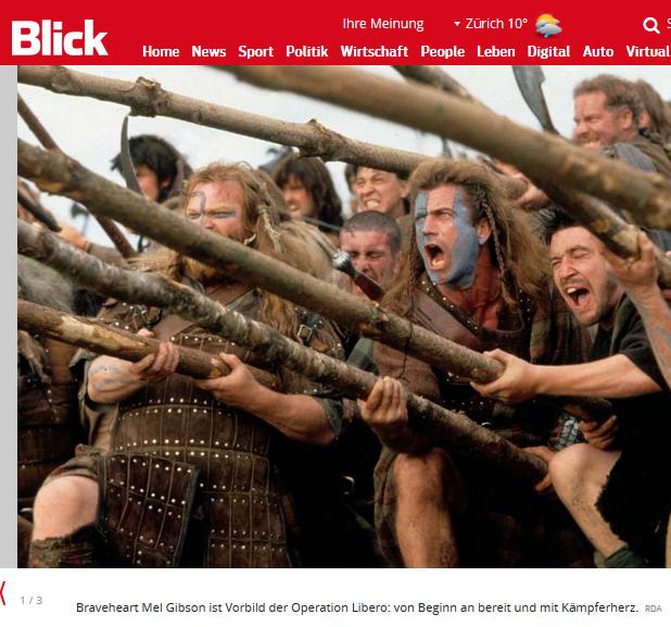 Kritiklos berichtet die Blick-Journalistin über die Braveheart-Aktion von Flavia Kleiner und ihrer Organisation Libero / Bildschirmfotoausriß: Blick.ch